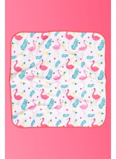 Hamur Bebek Kundak Plaj Havlusu Flamingo 75x75 cm Renkli